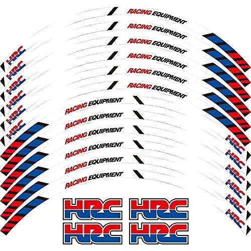 SJSM Moto Decals Stickers for H-onda HRC CBR250RR CBR400RR CBR600RR CBR1000RR Motorcycle Sticker Front Rear Wheels Decals Reflective Stickers Rim Stripes (Color : 3)