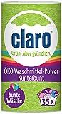 claro Kunterbunt Waschpulver - 1 kg Waschmittel-Pulver für bunte Wäsche - vegan & nachhaltig - 35 Waschgänge