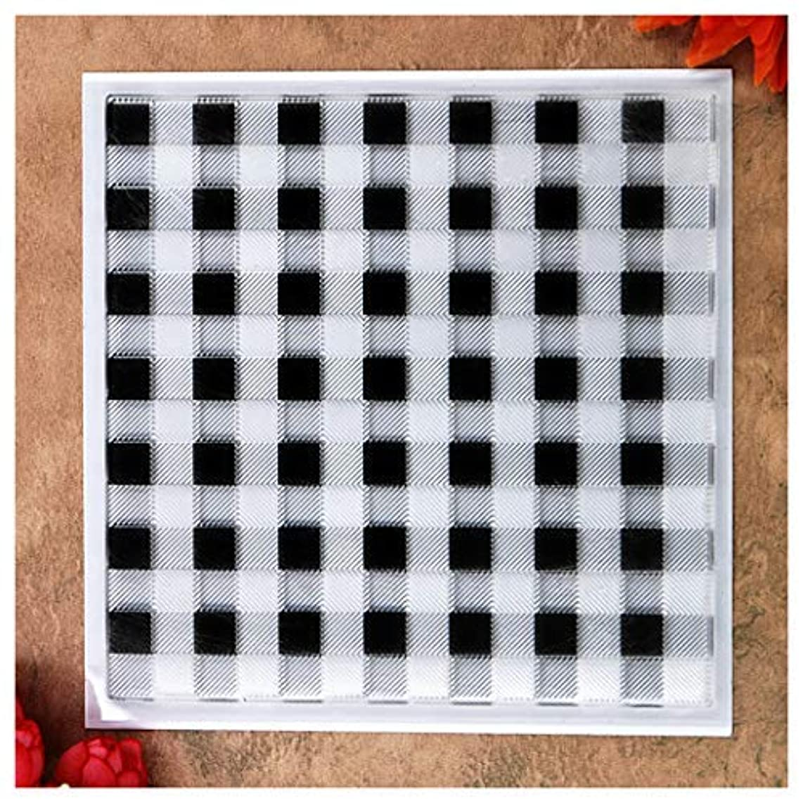 Kwan Crafts Lattice Background Clear Stamps for Card Making Decoration and DIY Scrapbooking