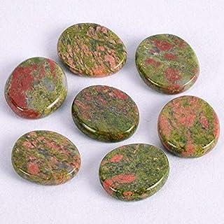 HFPOZ Natural Chakra Set Stone Palm Stone 30 * 25 * 7 mm Crystal Mineral Quartz polishing Slice Meditation Spiritual Reiki...
