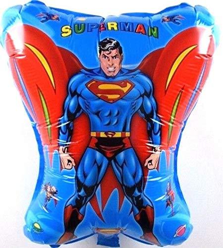 SauParty Helio Globos Superman Fan Niños Cumpleaños Marvel Héroe Balloon