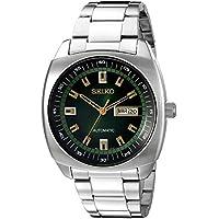 Seiko SNKM97 - Relojanalógico para Hombre, Esfera Verde, Automático, Plateado, Acero Inoxidable