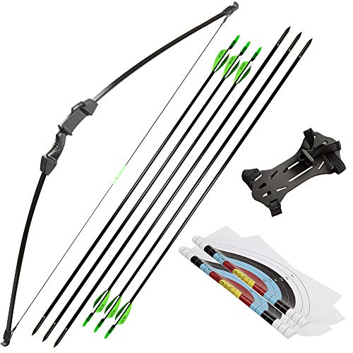 Linkboy Archery Takedown Recurve Bow and Arrow Set for Kid Youth Teens Outdoors Sports Game