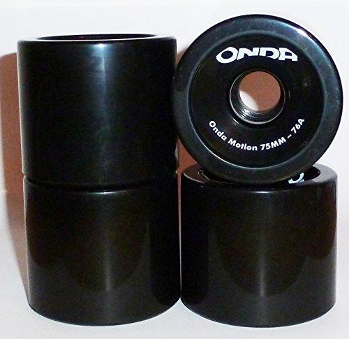 Onda Marcas Longboard Ruedas de 75 x 65 mm de Movimiento 76 A, 4280000643292