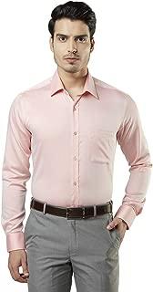 Raymond Solid Light Orange Coloured Cotton Shirt