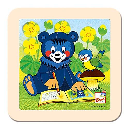 Bino & Mertens- Puzzle, baribal con Libro para Colorear (Mertens GmbH 13200)