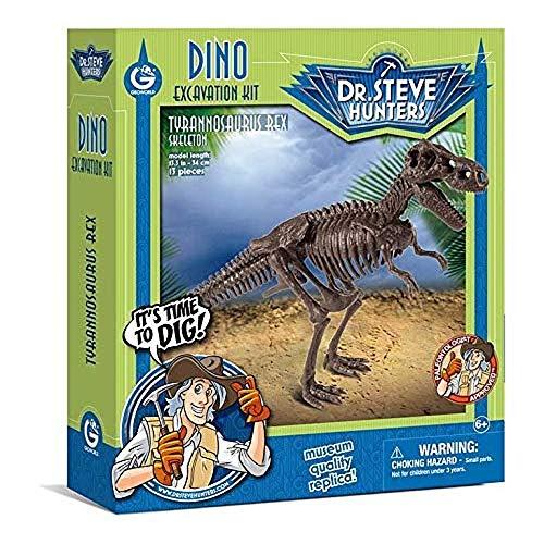 Geoworld 625262 - Dr. Steve Hunters: Dino Ausgrabungs-Set M - T-Rex-Skelett, Alter: 6+, Größe: 34 cm