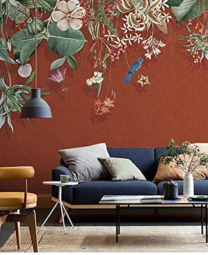 Wohngeräte 3D Wallpaper Leinwand Kunstdruck Wandbild Poster Foto Tapeten Wandbilder Bild Design Modernes Wohnzimmer Schlafzimmer Home Decoration-Flower Bird (350x256CM)