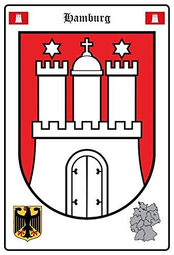 Schatzmix Hamburg Wappen Metal Sign deko Sign Garten Blech