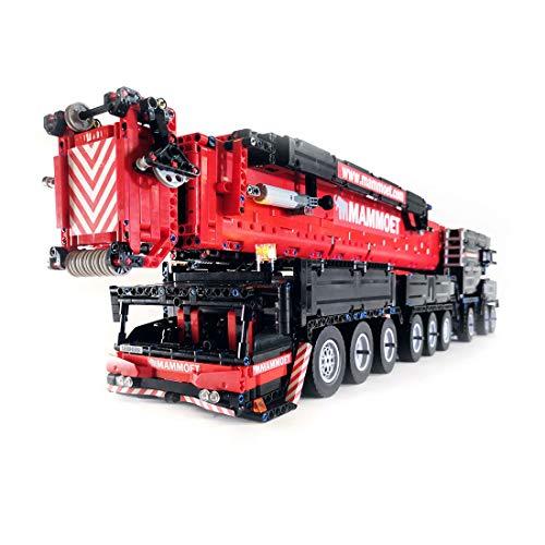YAKIA 7769 piezas Actualización Liebherr Crane LTM1750-9.1 con motor 2.4G V2 RC Mobile Crane Building Blocks Modelo Kit compatible con Lego Technics