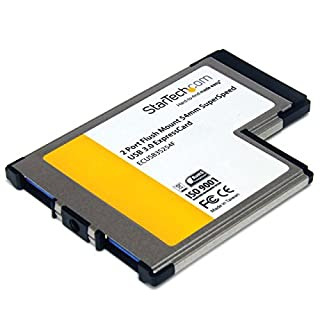 StarTech ExpressCard - Tarjeta de 2 Puertos USB (USB 3.0, 54 mm, UASP), Negro (B00535CMEE) | Amazon price tracker / tracking, Amazon price history charts, Amazon price watches, Amazon price drop alerts