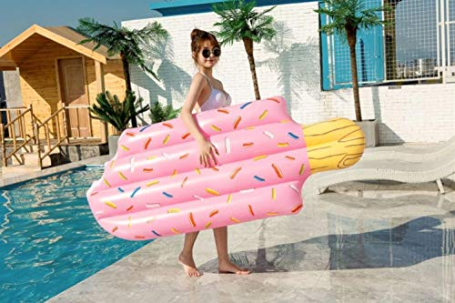 KBY-MM Inflatable Swimming Ring Pool Lounge Adult Pool Float Mattres Life Buoy Raft Swimming Water Pool Toys,196X86Cm
