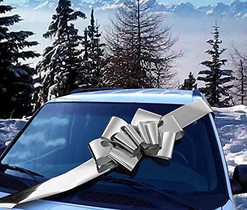 """GiftWrap Etc. Gran Arco metálico Plateado para automóvil - Decoración de Regalo con Cinta Grande, Completamente ensamblada, 25""""de Ancho, Navidad, cumpleaños"""