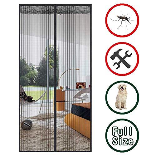 Screen for glazen schuifdeur met magneten, Magnetic Met Heavy Duty en mesh Gordijn door elke dag het huis, Hands Free, Garage, Frans/schuifpui, Vissersboot/boerderij (Size : 150x240cm/59x94in)