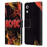 Head Case Designs Offizielle AC/DC ACDC Feuer Logo Leder