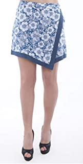 Palm Lagoon Livia in Shane Graphique White Blue Slim Fit Floral Skirt