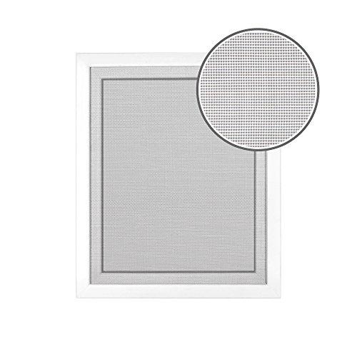 jarolift Fliegengitter Insektenschutz Fliegennetz für Fenster, ohne Bohren, Montage mit Klettband, Zuschneidbar, 130 x 150 cm, Weiß