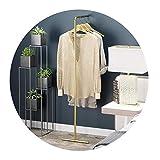 MJY Perchero Perchero nórdico de metal Perchero para el hogar en forma de L Perchero de pared Simple Varilla para colgar Ropa Unidad de exhibición - 3 colores, 38 × 140 cm,Oro