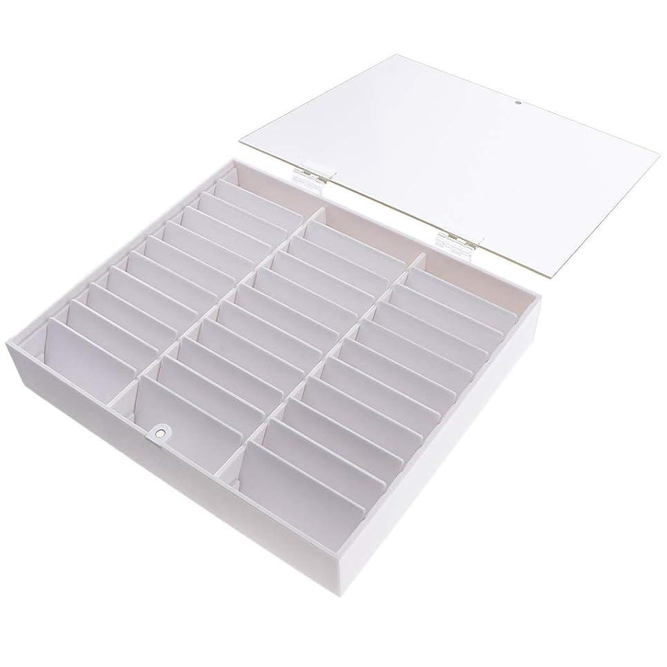 第二にプラグ勇気B Blesiya ネイルチップ収納ボックス ネイルディスプレイボックス 全2色 - 白