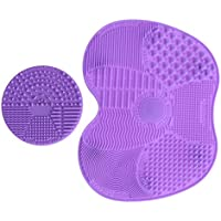LEADSTAR Limpiador de Brochas, 2 Pcs Limpieza Cosmético Cepillo Limpieza de Silicona, Estera de Cepillo de Limpieza para Maquillaje Cepillos y Maquillaje (Púrpura)