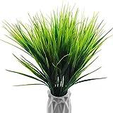 Aimili Plantas artificiales, 6 adornos de decoración, césped artificial, plantas acuáticas y paredes decorativas para peceras, color verde