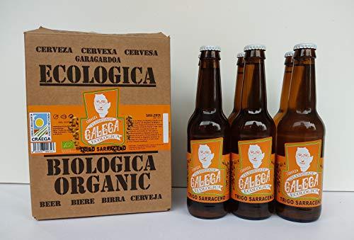 Cerveza artesana ecológica CELEBRIDADE GALEGA Trigo Sarraceno caja de 6 x 33cl.