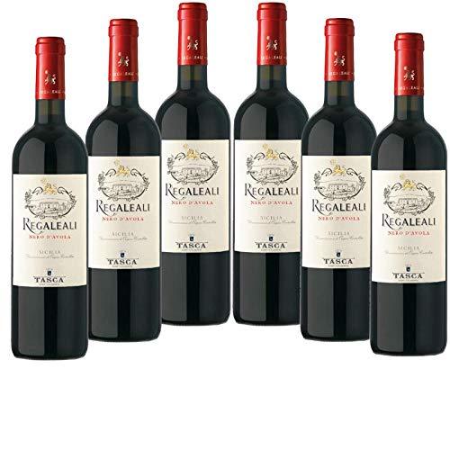 6 x Regaleali Rosso Nero d`Avola Sicilia IGT tr. 2018 Conte Tasca d`Almerita im Vorteilspack, trockener Rotwein aus Sizilien
