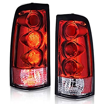 AUTOSAVER88 Tail Lights Compatible with 1999-2002 Chevy Silverado 1500/2500 2001-2002 Chevy Silverado 1500 HD/2500 HD/3500 Clear Smoke Red Taillights Pair  ONLY Fit Fleetside Models