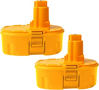 2Pack 4.0Ah DC9096 18V Battery for DeWalt Replacement 18-Volt DeWalt Tools Battery Pack DW9095 DW9096 DW9098 DE9039 DE9095 DE9096 DE9098 DC9099 DC9098(Ni-Mh)