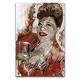 Ella Fitzgerald 7 Poster, dekoratives Gemälde, Leinwand,