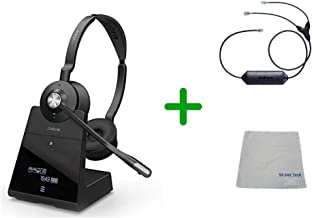 Avaya Compatible Jabra Engage 75 Wireless Headset Bundle with EHS Adapter, 9559-583-125-AVA33 | Avaya Deskphones, Bluetooth Phones, PC/MAC - Compatible Models: 1403, 1408, 1416, 9404, 9408, 9410, 9504