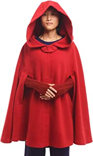 red hooded cape coat