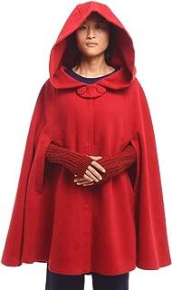 GRACEART Women's Hood Woolen Cape Bridal Wedding Cloak Plus Size Thick Coat Costume