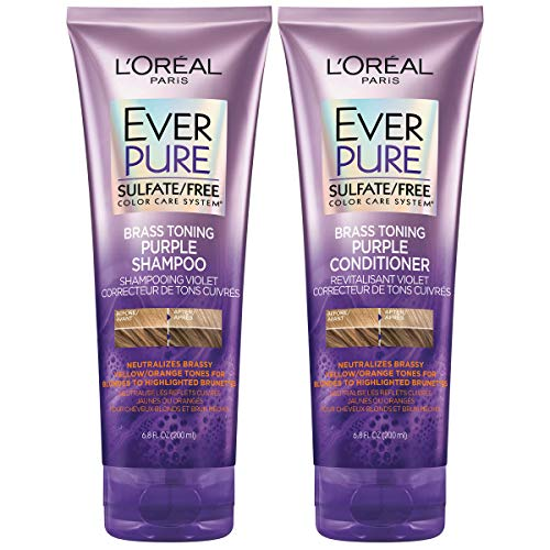 L'Oreal Paris EverPure Brass Toning Purple Shampoo and...