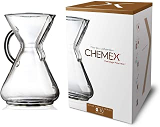 CHEMEX Pour-Over Glass Coffeemaker - Glass Handle Series - 10-Cup - Exclusive Packaging