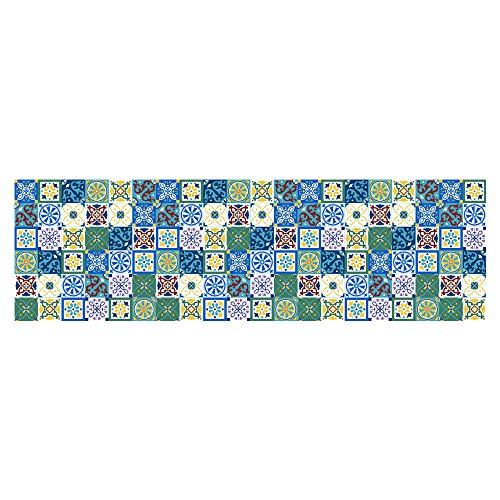 Fliesenaufkleber 60x200cm Serria® Mosaik Fliesen Wandtattoo Badezimmer und Küche | Fliesen Kleber Dekorative Fliesenfolie für Wandfliesen,Leicht zu Reinigen,Klebefliesen,Küche,Bädern