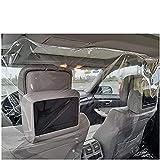 KAIDI タクシー 絶縁フィルム 飛沫防止 隔離カーテン 粘着フィルム 密封 透明 間仕切り 運転手 貼りやすく 痕跡を残さない 傷つけない 1.42*2M SUV用