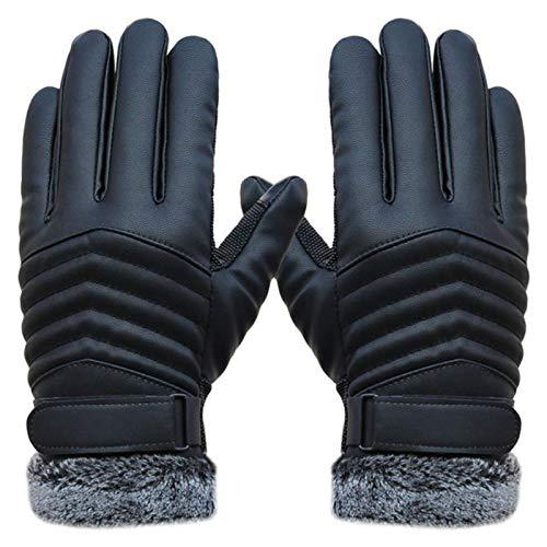 Miwaimao - Guantes de pantalla táctil para hombre, resistentes al viento, cálido, de piel sintética, para deportes al aire libre, calentador de manos