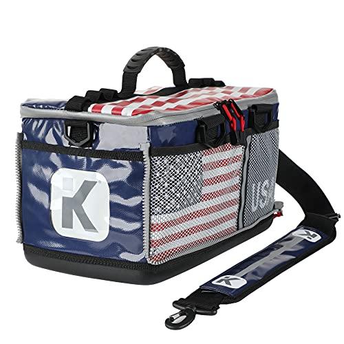 KITBRIX Sportausrüstungstasche – wasserdichte Tasche für Schwimmen, Radfahren, Laufen, Fitnessstudio, Fußball, Triathlon Übergang, Hinderniskurs Racing – USA