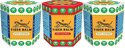 2 bálsamo de tigre blanco 21 g + 1 bálsamo de tigre rojo 21 g (lote de 3)