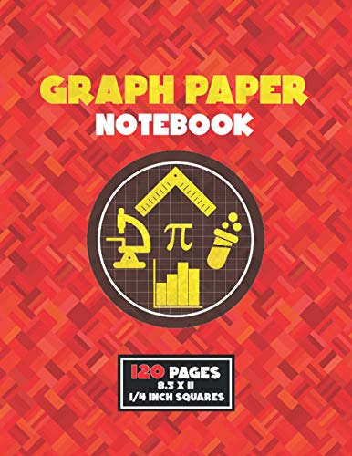 Graph Paper Notebook: Composition Notebook for Math Science | 4x4 - 1/4 inch grid ( 4 squares per inch ) quad ruled | Gift for Kids, Students and Teachers.