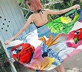 SCVBLJS Pájaro Toallas De Playa Loro De Dibujos Animados Hombres Y Mujeres Nadar SPA Viajar Yoga Deportes Cubierta De Hamaca Baño Ducha En Casa Toallas