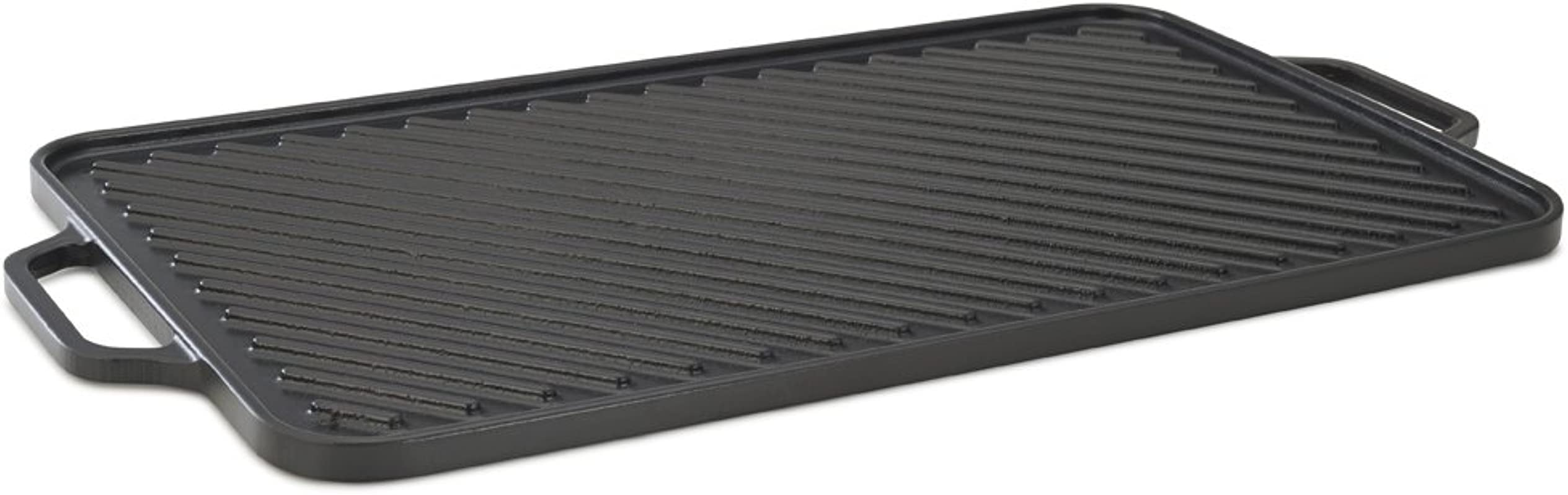 Cast Iron Griddle Enameled Cast Iron Grill 18 5 Inches Black