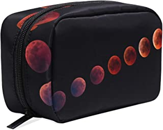 Unicey Blood Moon Makeup Bags Portable Tote Cosmetics Bag Travel Cosmetic Organizer Toiletry Bag Make-up Cases for Women