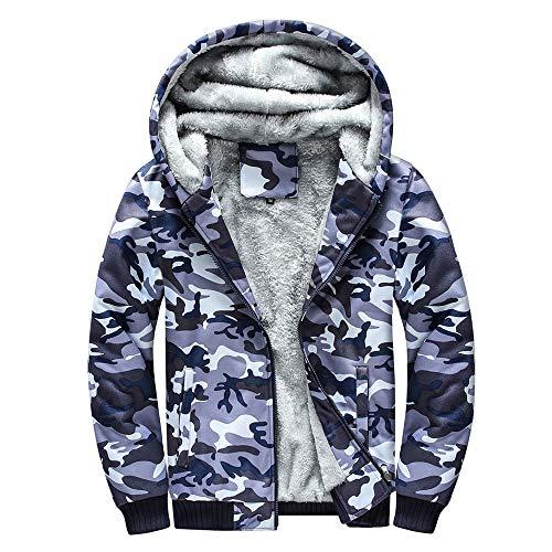 FRAUIT Herren Winterjacke Männer Camouflage Zipper Langarm Jacken Mantel Windbreaker, Windjacke Kapuzenjacke Streetwear Herren/Jungen Warm Parka Coat Kleidung Top Outwear M-4XL (XXXXXL, Mehrfarbig1)