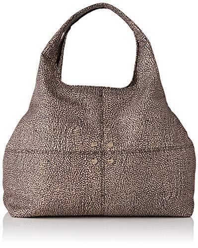 Borbonese Savile Bag Medium, Borsa a Tracolla Donna, Marrone (Op Naturale/Marrone), 35x27x14 cm (W x H x L)