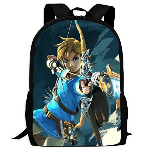 Therwd Childrens Adult Outdoor Sports School Backpack,Cool 3D Print ZE-ldA Leg/EnD,Book Bags Shoulder Bag