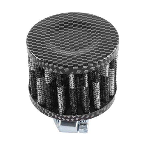 sourcing map Voiture 12mm diamètre entrée un filtre entrée air reniflard carter ventilation Turbo