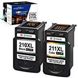 GPC Image Remanufactured Ink Cartridge Replacement for Canon PG-210XL 210XL CL-211XL 211XL to use with PIXMA MP240 MP230 MP480 IP2702 IP2700 MP495 MX410 MX420 MX330 MX340 Printer (Black, Tri-Color)