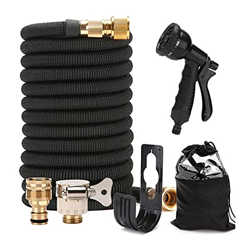 DFNESNN Extendable Garden Hose High Pressure Water Gun Kit, Retractable Garden Sprinkler Hose, The Best Choice for Watering and Washing Tools (Size : 30M)